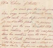 Oud Frans handschrift stock foto's