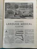 Oud Frans medisch boek met illustraties stock afbeelding