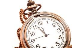 Oud geïsoleerd horloge Royalty-vrije Stock Foto's