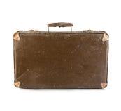 Oud geïsoleerd kofferclose-up royalty-vrije stock afbeelding