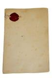 Oud geïsoleerdR document Royalty-vrije Stock Foto's