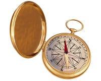Oud geïsoleerdt kompas Stock Fotografie