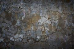 Oud gebarsten concreet cementpleister Stock Foto