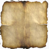Oud gebrand document Stock Afbeelding