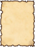 Oud gebrand document royalty-vrije stock foto