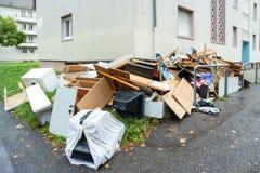 oud gebroken meubilair Stock Fotografie