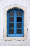 Oud gebroken venster Stock Afbeelding