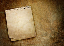 Oud gebruikt notitieboekje Stock Afbeeldingen
