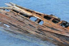 Oud gedaald schip stock fotografie