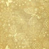 Oud geel Kerstmisdocument Royalty-vrije Stock Afbeelding