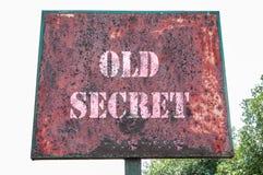 Oud geheim bericht royalty-vrije stock afbeeldingen