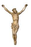 Oud gekruisigd standbeeld van Jesus Royalty-vrije Stock Fotografie