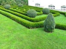 Oud gemodelleerd tuinbed in Praag Royalty-vrije Stock Foto's
