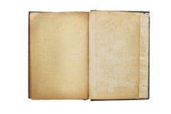Oud geopend boek met blanco pagina's Royalty-vrije Stock Foto
