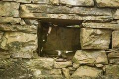 Oud geruïneerd dorp in Slovenië met gestructureerde muur Royalty-vrije Stock Foto's