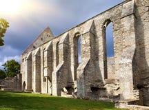 Oud geruïneerd St Brigitta klooster in Pirita-gebied, Tallinn, Royalty-vrije Stock Foto
