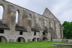 Oud geruïneerd St Brigitta klooster in Pirita-gebied, Tallinn, Stock Foto