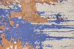 Oud geschilderd blauw als achtergrond Stock Afbeelding