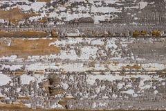 Oud geschilderd gekrast hout stock afbeelding
