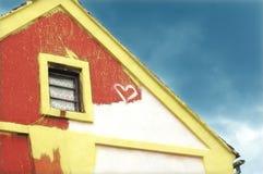 Oud geschilderd huis Royalty-vrije Stock Afbeeldingen