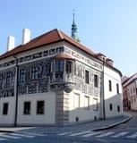 Oud geschilderd huis in Trebic Royalty-vrije Stock Afbeeldingen