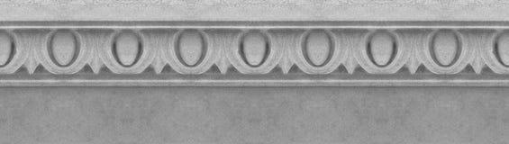 Oud gesneden wit steenkader met geometrische vorm op witte achtergrond voor gemakkelijke selectie - naadloos patroon stock afbeelding
