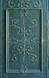 Oud-gestileerde verfraaide metaaldeur Stock Fotografie