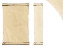 Oud gevouwen document Stock Foto's