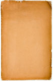 Oud geweven document met vervallen rand. Royalty-vrije Stock Foto