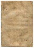 Oud geweven document met vervallen rand (aftasten). Royalty-vrije Stock Foto's