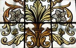 Oud glasvenster Stock Afbeeldingen