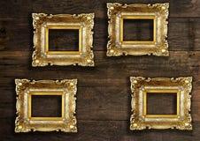 Oud Gouden Beeld Royalty-vrije Stock Afbeelding