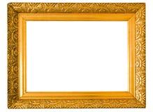 Oud gouden frame Stock Afbeelding
