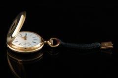 Oud gouden horloge Royalty-vrije Stock Foto's