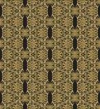 Oud gouden patroon Stock Afbeeldingen