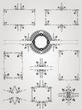 Oud gravurekader Royalty-vrije Stock Afbeeldingen