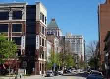 (Oud) Greensboro van de binnenstad, Noord-Carolina Stock Foto