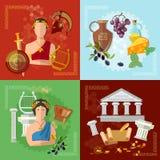 Oud Griekenland en de traditie en de cultuur van Rome royalty-vrije illustratie