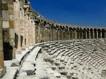 Oud Grieks amfitheater Aspendos Royalty-vrije Stock Afbeeldingen