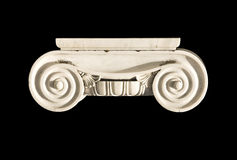 Oud Grieks geïsoleerd kapitaal Stock Afbeelding