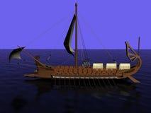 Oud Grieks kombuis van hout Stock Foto