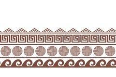 Oud Grieks seamlesshorizontal grensontwerp Vector illustratie vector illustratie