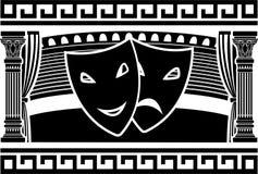 Oud Grieks theater Royalty-vrije Stock Foto's