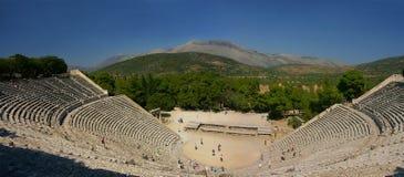 Oud Grieks theater stock foto's