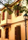 Oud Grieks traditioneel huis Royalty-vrije Stock Afbeelding