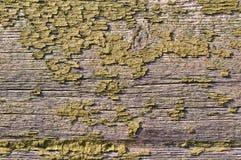 Oud groen geschilderd hout stock afbeelding