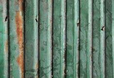 Oud groen metaal met roestachtergrond Royalty-vrije Stock Afbeelding