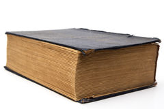 Oud groot gesloten boek Royalty-vrije Stock Foto's