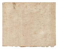 Oud grunge geweven document blad Royalty-vrije Stock Foto's