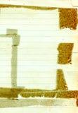 Oud grungedocument Royalty-vrije Stock Afbeeldingen